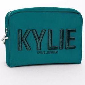 Kylie cosmetics holiday 2017 teal makeup zip bag
